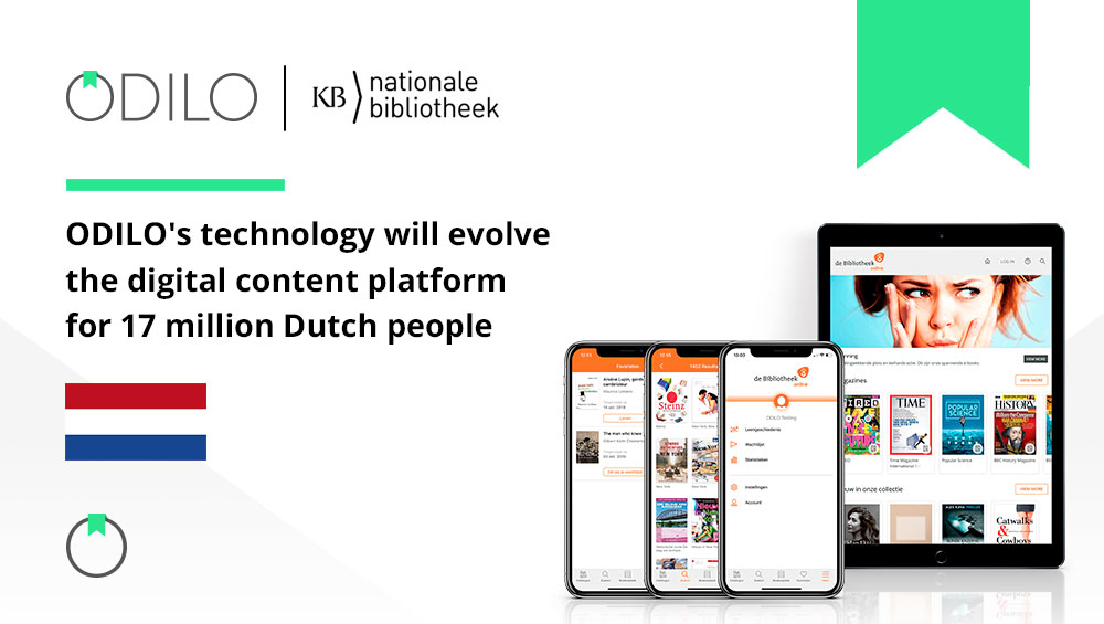 ODILO's technology will evolve the digital content platform for 17 million Dutch people